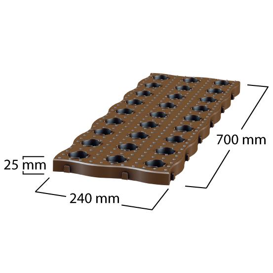 Plastikinės sodo plytelės MaXi (4 vnt.)